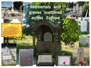 Memorials and graves scattered across Europe