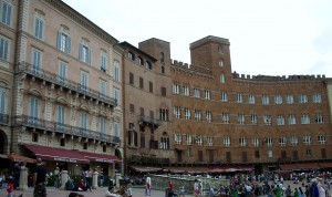 'The town's sloping, shellshaped Piazza del Campo...was newly paved with brick and stone the year before Catherine's birth'