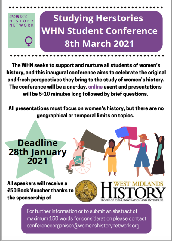 Herstories Student Conference – 8 March 2021